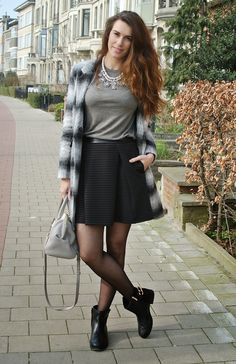 Curls and Bags: Outfit: Naf Naf skirt