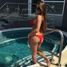 Nikki Bella in Red Bikini. Perfect!