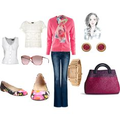 pink sweater~, created by akbecca on Polyvore