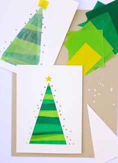 Make Christmas presents yourself, green and yellow tissue paper, homemade . - Make Christmas presents yourself, green and yellow tissue paper, homemade … – Christmas and New - Christmas Decoration For Kids, Christmas Activities For Kids, Christmas Crafts For Gifts, Christmas Printables, Christmas Diy, Homemade Christmas Presents, Christmas Family Feud, Christmas Makes, Holiday Party Games