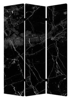 If you love the rich look of marble can bring to a room, then you'll love the Screen Gems Black Marble Room Divider. Decorative Room Dividers, Wall Dividers, Folding Screen Room Divider, Marble Room, Gothic Interior, Modern Gothic, Gothic Bedroom, Goth Home, Black Marble