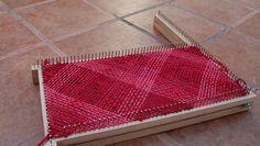fuchsia pattern in adjustable weaving loom