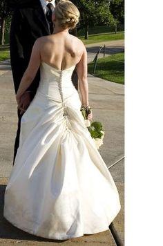 Diy wedding dress bustle articles 16 ideas for 2019 Diy Wedding Dress Bustle, How To Dress For A Wedding, Classic Wedding Dress, One Shoulder Wedding Dress, Types Of Wedding Gowns, Wedding Dresses, Dress Alterations, Wedding Attire, Bella