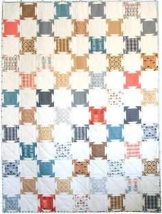 """The Soiree quilt pattern is a great way to show off the many beautiful prints found in a Layer Cake! These 6"""" blocks sew up quickly and create a party all their own. *Printed paper pattern will ship v"""