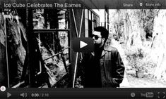 """Ice Cube, formidable rapper and former architectural student, in a still from a short film celebrating the revolutionary Eames House, the product of constraints around cost and materials: """"They was doing mash ups before mash ups even existed."""" The film comprises part of an initiative by The Getty Museum: PACIFIC STANDARD TIME, 2011-2012, an exploration of art, design and architecture in Southern California. http://pacificstandardtime.org."""