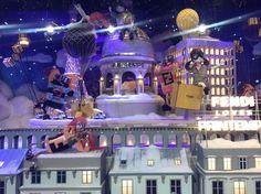 """PRINTEMPS, Paris, France, """"NOËL au Printemps!"""", (Christmas at Printemps), pinned by Ton van der Veer Christmas Displays, Shop Windows, Shop Window Displays, Stage Design, Window Shopping, Christmas Shopping, Paris France, Shoe, Holiday"""