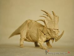 Styracosaurus 2.0 by linny young origami