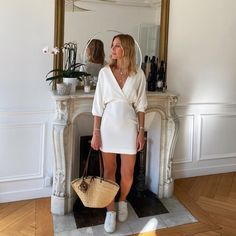 Fall Winter Outfits, Summer Outfits, White Dress, Spring Summer, Instagram, Dresses, Fashion, Trendy Tree, Pretty White Dresses