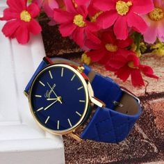 Geneva Leather Watch