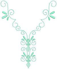 neckline machine embroidery designs | ... necklines using the Decorative Patterns embroidery design collection