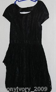 LADIES OF LONDON  LIPSY  BLACK LACE  DRESS  SIZE 10