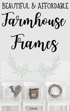 Farmhouse Decor That Is Warm & Full Of Character. Beautiful Rustic Farmhouse Frames To Display Your Memories. Detailed With Shabby Chic Design and Perfect For Any Farmhouse Decor. Farmhouse, Farmhouse Decor, Farmhouse Pictures, Farmhouse Style Lighting, Decor Magazine, Frame, Home Decor, Farmhouse Frames, Home Decor Inspiration
