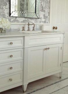 Wait Until You See This Dream Bathroom Design! - laurel home   interior design by Laurel Bern   custom vanity - Jem Woodworking