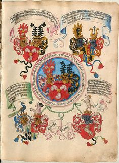 Códices Ursula, Medieval, Family Crest, Crests, Renaissance Art, Illuminated Manuscript, Roman Empire, Coat Of Arms, 16th Century