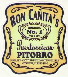 "PUERTO RICO ""RON CAÑITAS"" CAR STICKER"