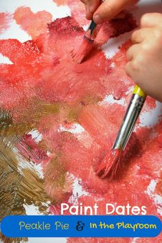 Pin Paints. 5 Top 5 tips for messy creative fun