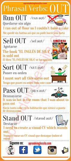 Phrasal verbs OUT #English