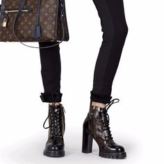44cd53b0a8a6 Louis Vuitton MONOGRAM 2017-18AW Monoglam Plain Toe Leather Block Heels  Elegant Style