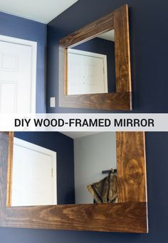 Mirror frames made of toy cars. Mirror frames made of toy cars. UPCYCLING IDEAS cooDIY wooden frame mirror tutorialDIY wooden frame mirror tutorialHow to frame a bathroom Diy Bathroom, Diy Furniture, Diy Mirror, Pallet Mirror, Mirror House, Wood Diy, Diy Bathroom Design, Home Diy, Bathroom Mirrors Diy