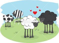 A family of sheep. Sheep Illustration, Sheep Vector, Free Vector Art, Lamb, Blanket, Animals, Fictional Characters, Sheep Drawing, Animales