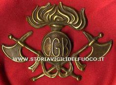 Fregio da copricapo  Pompieri fabbrica C.G.B.-Primo '900