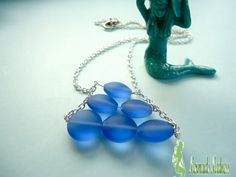 NEW DESIGN!  Only $15.00 Get it while it's HOT!!! Something Blue Sea Glass Beach Bride Jewelry Ocean Jewelry Mermaid Jewelry Sea Glass Necklace Bridesmaid Gift by MermaidsMadness on Etsy