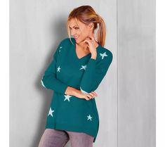Pulovr s výstřihem do V, hvězda | vyprodej-slevy.cz #vyprodejslevy #vyprodejslecycz #vyprodejslevy_cz #moda #damskamoda #xxlmoda #xxl Dresses With Sleeves, Long Sleeve, Fashion, Gowns With Sleeves, Moda, Sleeve Dresses, Full Sleeves, Fasion, Trendy Fashion