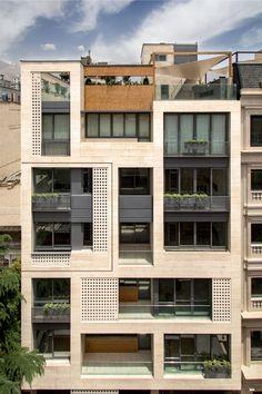 Khazar Residential Building / S-A-L Design Studio - architecture and design Architecture Design, Facade Design, Sustainable Architecture, Exterior Design, Contemporary Architecture, Pavilion Architecture, Japanese Architecture, Ancient Architecture, Sustainable Design