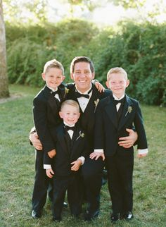 Groom with Ring Bearers | photography by http://carrie-patterson.squarespace.com/