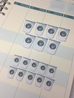 Starbucks Coffee Planner Stickers Set by JULYDESIGNXO on Etsy