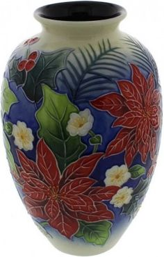 Picture of Poinsettia Pattern Vase 8 inches tall (Old Tupton Ware)