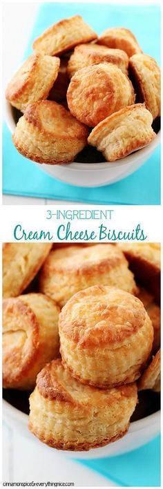 Cream Cheese Biscuits Tender little biscuits with millions of flaky layers that melt in your mouth! Super easy and fast to make!Tender little biscuits with millions of flaky layers that melt in your mouth! Super easy and fast to make! Cream Cheese Biscuits, Tea Biscuits, Buttermilk Biscuits, Cream Cheeses, Bread Recipes, Cooking Recipes, Bisquick Recipes, Pan Relleno, Brunch