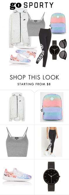 """""""Sporty"""" by erama on Polyvore featuring NIKE, Vans, Topshop, adidas Originals, I Love Ugly and Yves Saint Laurent"""