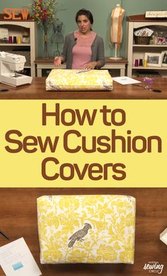 Tired of needing new cushions every season? This class is just for you! Sewing Hacks, Sewing Tutorials, Sewing Crafts, Sewing Ideas, Diy Cushion, Cushion Covers, Sewing Circles, Reupholster Furniture, Sewing Pillows