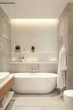 remodeling bathroom contractors near me Bathroom Spa, Bathroom Layout, Bathroom Interior Design, Small Bathroom, Small Freestanding Bath, Apartment Bathroom Design, Bathroom Candles, Light Bathroom, Family Bathroom