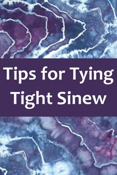 Do you have trouble making those nice clean, crisp lines on your tie dye? Check out these tips!
