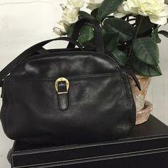 Etienne Aigner Handbags - Etienne Aigner black leather shoulder bag.