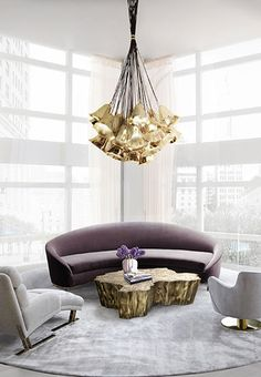 A bold and modern villa in Dubai found the perfect luxury table lamp with the Gem, using its geometric style in more than one room.