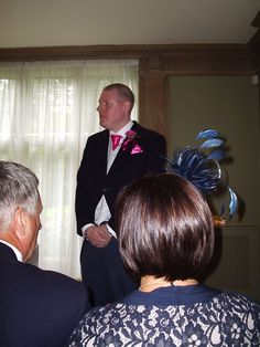 the groom waiting for his bride