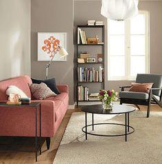 contrast color sofa
