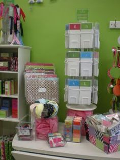stationery store display