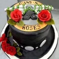 Guns N' Roses cake I need this  for one of my birthdays....awwwwwsooomeee