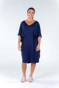 Bamboo Empress Miracle Dress in True Navy