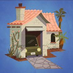 Finally moved to #LA #house #art #illustration #plants by bearmanbeast http://ift.tt/1PZjuey