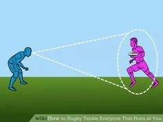 Image titled Rugby Tackle Everyone That Runs at You Step Rugby Poster, Rugby Training, Rugby Sport, All Blacks, Rugby Players, Image Title, Big Guys, Coaching, Exercise