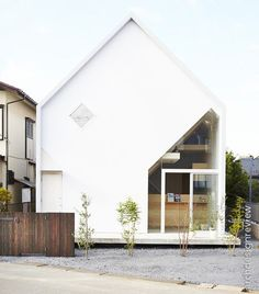 Architecture, Modern Minimalist House Design With White Exterior Color Decorating Ideas And Glass Window: Bright and Open House H by Hiroyuki Shinozaki Architects Architecture Résidentielle, Japanese Architecture, Amazing Architecture, Installation Architecture, Amazing Buildings, Contemporary Architecture, Design Exterior, Interior And Exterior, Modern Exterior