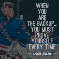 Antti Raanta getting his 1st start as a #NYR