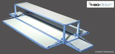 Hydroswing Hydraulic ISO Container Door Closed View 40 ft All Drop Down Walls Sheeted