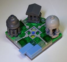 Lego Mini Modular Greek Garden by iridescent nohow,