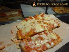 Pizza al taglio con la mozzarella (roman style)...deliziosa!!!